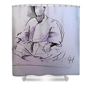 Seiza Shower Curtain