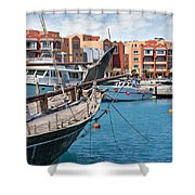 Sekalla Marina Egypt Shower Curtain