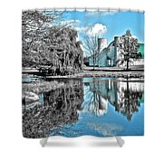 Selective Color Fall Day Shower Curtain
