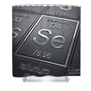 Selenium Chemical Element Shower Curtain
