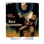 Self Decapitation Shower Curtain