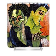 Self-portrait - Double Portrait Shower Curtain