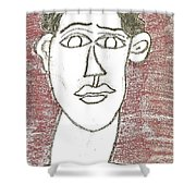 Self-portrait As A Young Man Shower Curtain
