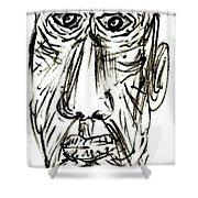Self-portrait As An Old Man Shower Curtain
