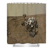 Self-portrait Of Curiosity Rover Shower Curtain