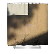 Self Portrait Shadow Wall Casa Grande Arizona 2004 Shower Curtain