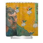 Self-portrait With Portrait Of Bernard. Les Miserables. Shower Curtain