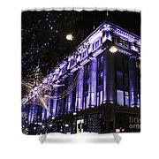 Selfridges London At Christmas Time Shower Curtain