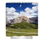 Sella Group. Italian Dolomites Shower Curtain