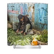 Selling Herbs In The Souk Shower Curtain