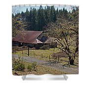 Selma Barn And Country Road Shower Curtain