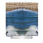 Selsey Mirrored Shower Curtain