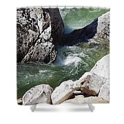Selway Falls Bowl Shower Curtain