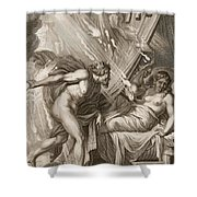 Semele Is Consumed By Jupiters Fire Shower Curtain