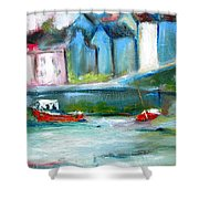 Semi Abstract Landscape Shower Curtain