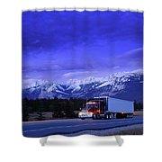 Semi-trailer Truck Shower Curtain