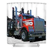 Semi Trucks Catr3120-13 Shower Curtain