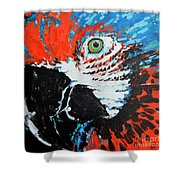 Semiabstract Parrot Shower Curtain