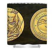 Seminole Nation Code Talkers Bronze Medal Art Shower Curtain