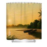 Seminole Sunset Shower Curtain