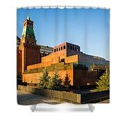 Senate Tower And Lenin's Mausoleum - Square Shower Curtain