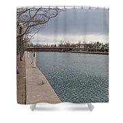Seneca Falls Marina Shower Curtain