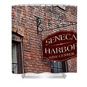 Seneca Harbor Wine Center Shower Curtain