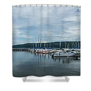 Seneca Lake Harbor - Watkins Glen - Wide Angle Shower Curtain