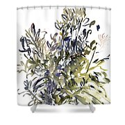 Senecio And Other Plants Shower Curtain