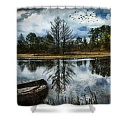 Seney And The Rowboat Shower Curtain