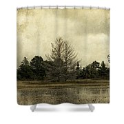 Seney Coffee With Cream Shower Curtain