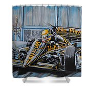 Senna On The Casino Square Shower Curtain