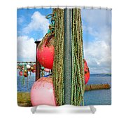 Sennen Cove Buoys Shower Curtain