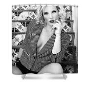 Sensational Stripes Bw Fashion Shower Curtain