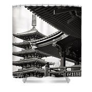 Senso-ji Temple In Tokyo  Shower Curtain