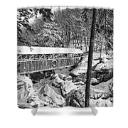 Sentinel Pine Covered Bridge - Franconia Notch State Park New Hampshire Usa Shower Curtain by Erin Paul Donovan