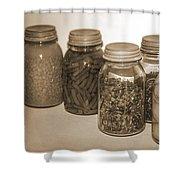 Sephia Vintage Kitchen Glass Jar Canning Shower Curtain