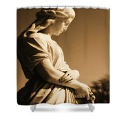 Sepia Angel Dream Shower Curtain