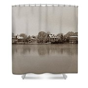 Sepia Chestertown Waterfront Shower Curtain