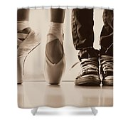Sepia Duet Shower Curtain