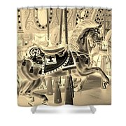 Sepia Horse Shower Curtain