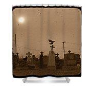 Sepia Morning Fog Shower Curtain