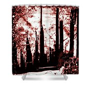 Sepia Skyline Shower Curtain