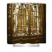 Sepia Spanish Door Shower Curtain
