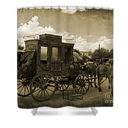 Sepia Stagecoach Shower Curtain