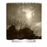 Sepia Sun Shower Curtain