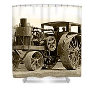 Sepia Tractor Shower Curtain