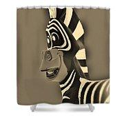 Sepia Zebra Shower Curtain