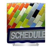 Septa Schedules Shower Curtain