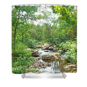 September Arrives At The Unami Creek Shower Curtain